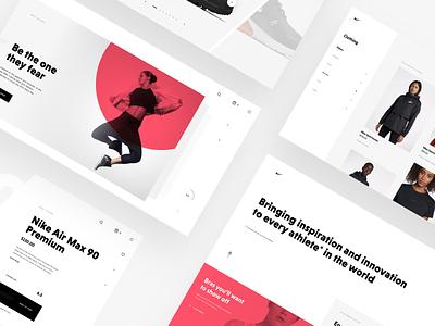 Nike Store Concept – Sneak peek web sketch freebie nike redesign shop ecommerce webdesign