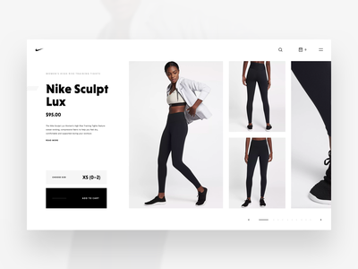 Nike Store Concept – Product Details product product page product details concept store web sketch freebie nike redesign shop ecommerce webdesign