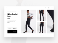 Nike Store Concept – Product Details