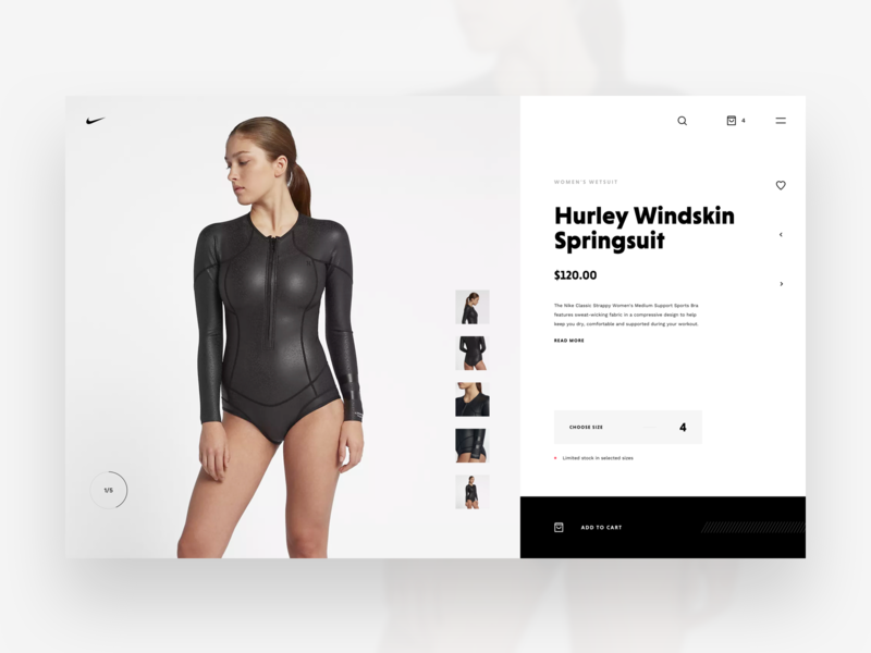 Nike Store Concept – Product Details #2 webdesign ecommerce shop redesign nike freebie sketch web store concept product details product page product