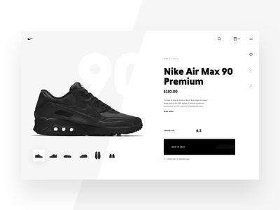 Nike Store Concept – Shoe preview product product page product details concept store web sketch freebie nike redesign shop ecommerce webdesign