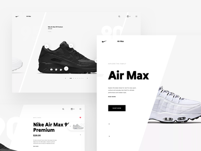 Nike Store Concept – Products slider shoes slider products page store products web sketch freebie nike redesign shop ecommerce webdesign filters sidenav