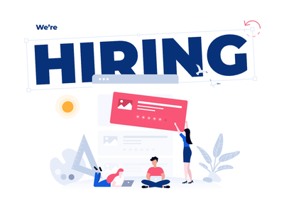 We are hiring! illustration designers visual designer hiring