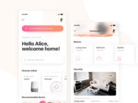 Smart Home Assistant UI Kit - Dashboard