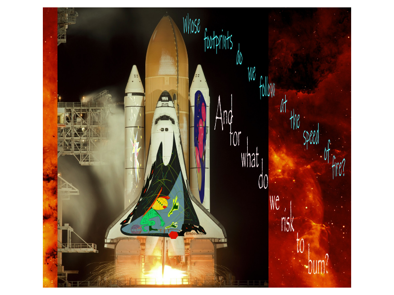 StarDusters photoshop illustrator beauty danger philosophy questions adventure travel theology space exploration
