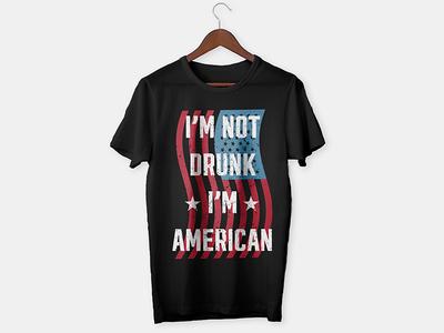 American Drunk T-shirt Design