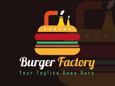 Burger Factory - Food Logo Design