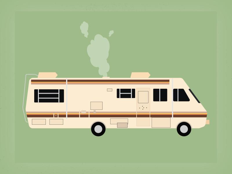 Breaking Bad Trailler flat illustration design