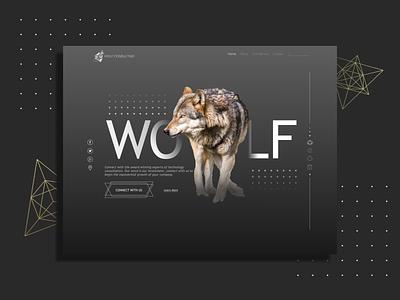 Wolf Consulting tribal web ui designs web designer web design branding inspo ui sketch app illustration adobe vector sketch photoshop design