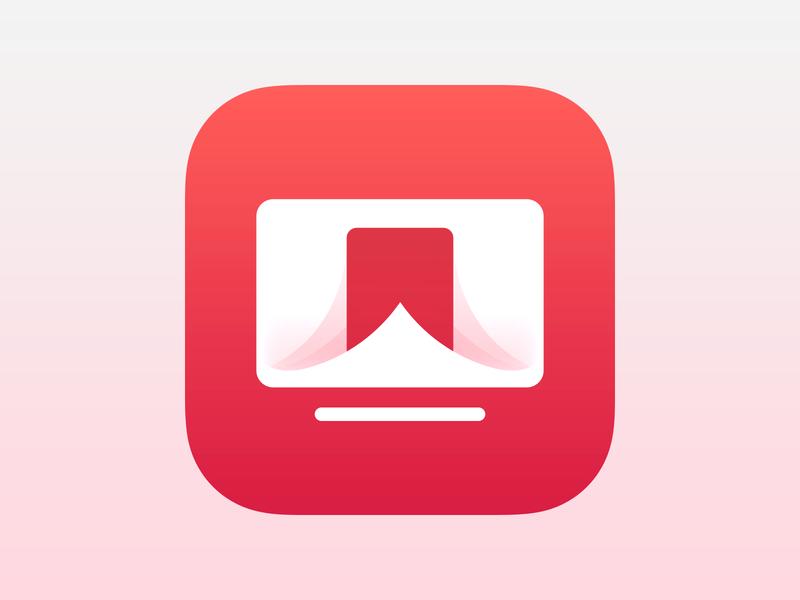 TV Forecast App Icon icon tv icon ios app icon app icon