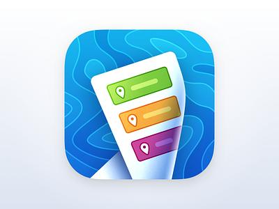 Travelos iOS App Icon map travel app icon app icon iso app icon