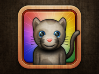 Stuffed Toy Cat Icon