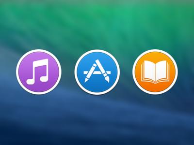 OS X Icons os x mavericks itunes icon app store icon ibooks icon icons