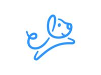 Jumping Dog Logo jumping dog branding logo dog