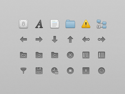 VisualDiffer UI Icons icons mac os x preference icons in-app icons