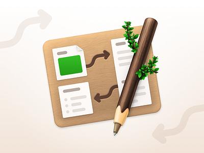 Coppice macOS App Icon texture pencil coppice app icons wood macos icon app icon map app icon