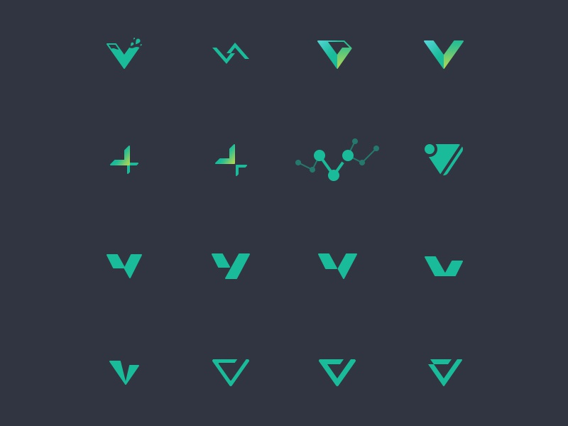 V Logos logo v logo