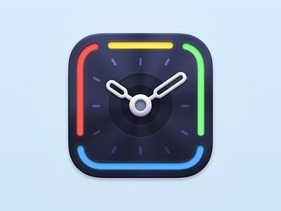 Timing - Big Sur App Icon clock icon macos app icon app icon macos icon mac app macos mac timing