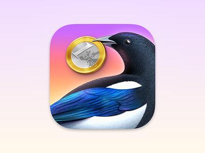 Steuererklärung - Big Sur App Icon magpie icon mac app icon mac app macos mac app icon