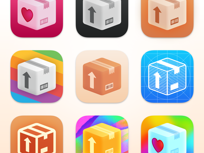 Parcel App Icons app deliveries packages icon design icon app icon ios macos parcel