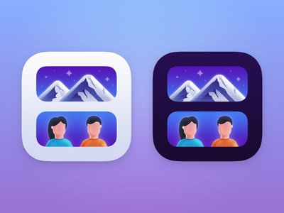 Smart Photo Widget iOS App Icon widget app smart photo widget icon design app icon design app icon ios app icon