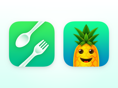 Moderation iOS App Icons food icons pineapple icon design ios app icon app icon