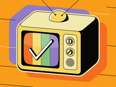 Television Time - App Store Artwork app icon televison illustration app store promo art app store artwork televison time