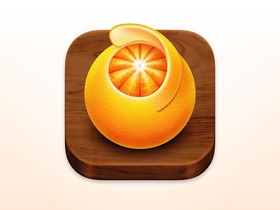 Squash 3 - macOS App Icon orange app wood wood texture wood app icon realmac icon design app icon orange app icon squash app icon squash