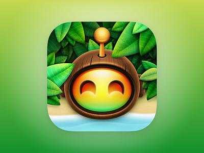 Coconut Head - Apollo Ultra Icon app icon design apollo app apollo ultra app icon ios app icon apollo