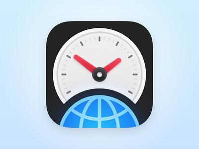 World Clock Time Widget - iOS App Icon clock app icon ios app icon design ios icon icons app app icon clock icon