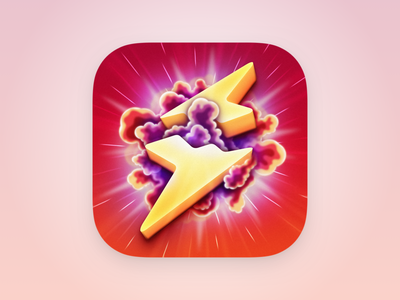 Amplosion - iOS App Icon lightning bolt ios app icon icon design app icon