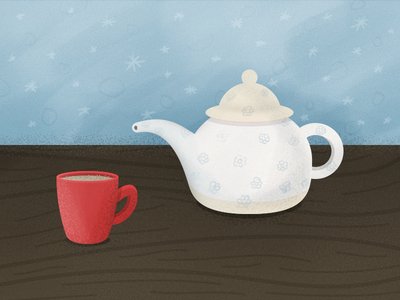 Simple Cup of Tea red cup cup tea pot tea