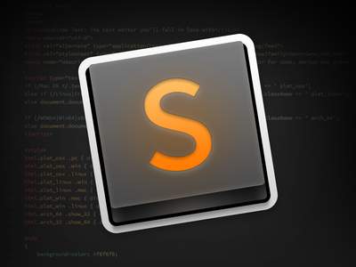 Sublime Text App Icon sublime sublime text mac app mac app icon os x app icon os x app icon