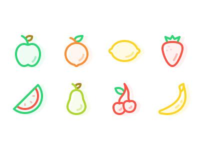 Fresh Fruits icons fruit icon fruit