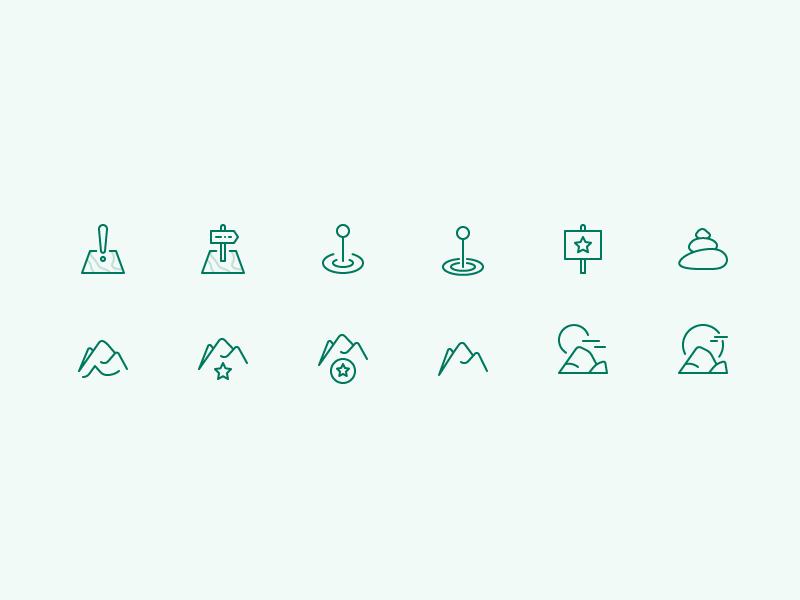 Landmark Icons landmarks parks camping icons