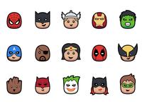 Blast - 15 Superhero Icons