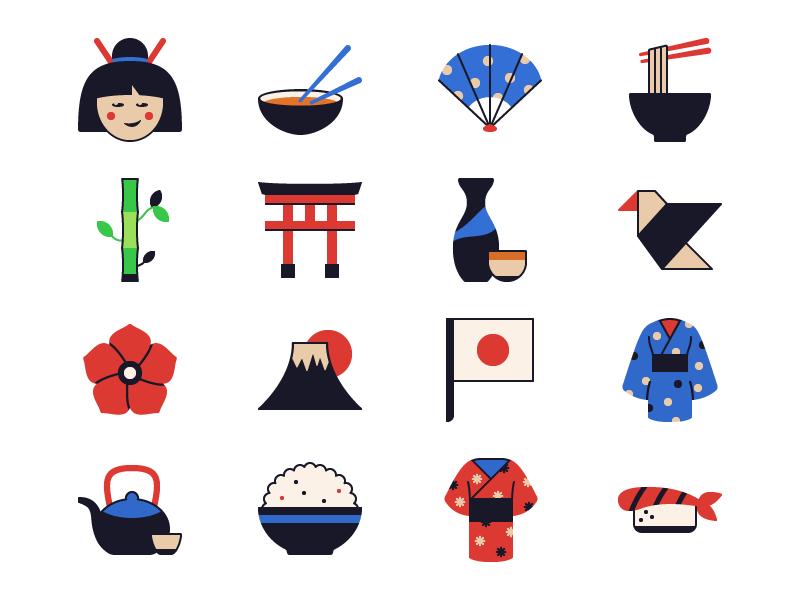 Osaka - 25 Japanese Icons free japanese japan icons