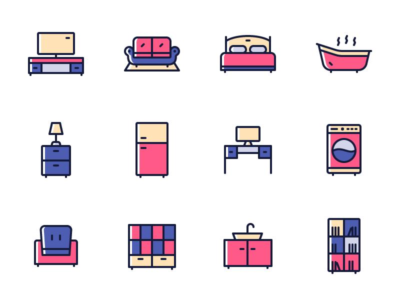 Futon - 15 Furniture Icons free furniture icons