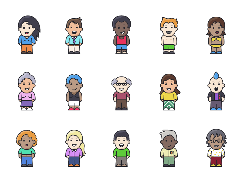 Lil Buddies - 15 People Icons free people icons