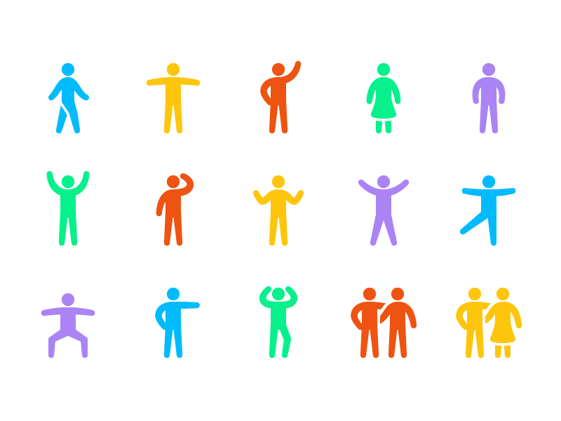 Stride - 15 Human Action Icons free people actions icons