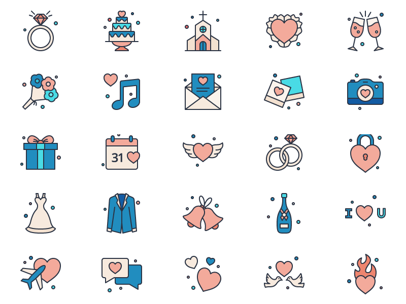 Grace - 25 Love and Marriage Icons free marriage love icons