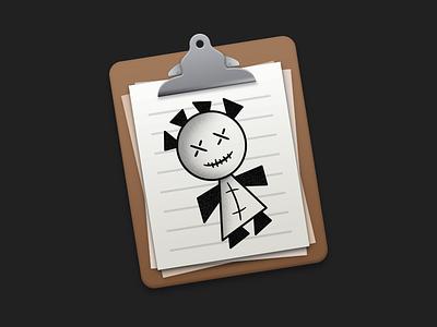 New VoodooPad Icon clipboard mac app mac icon app icon icon voodoopad