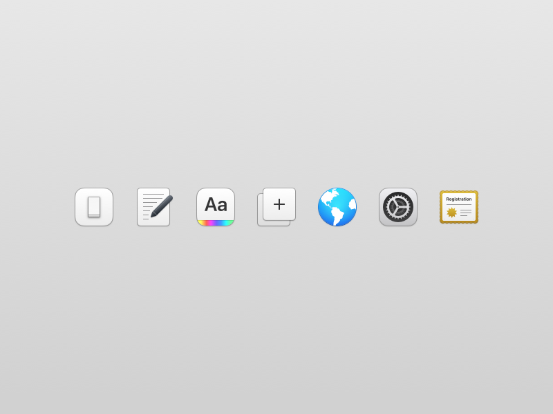 New VoodooPad - Preference Icons macos prefs mac app mac icons preference icons icon voodoopad