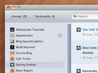 FeedReporter - RSS Reader App Mockup
