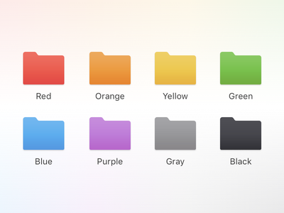 macOS Folder Icons finder folders folder icon icon folder macos