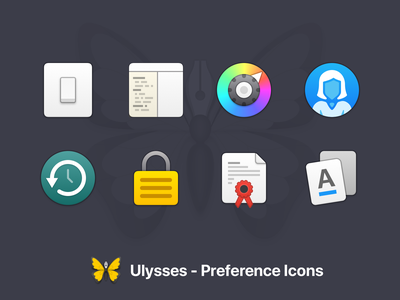 New Ulysses Preference Icons mac app preference icons macos icons ulysses