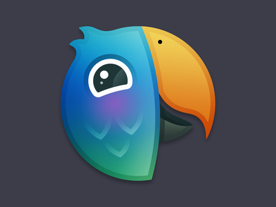 Parrot App Icon - Direction B parrot bird macos app icon macos app icon