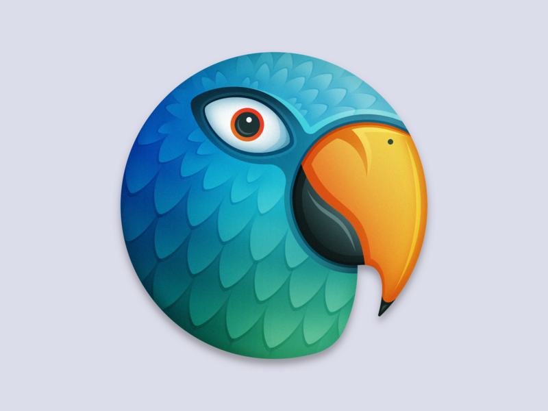Parrot App Icon - Direction A bird app icon macos app icon parrot
