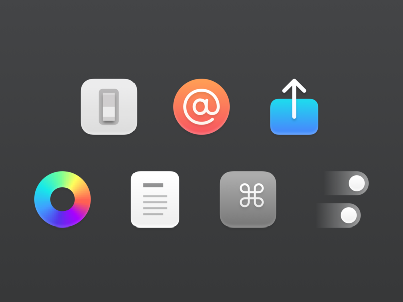 Custom Reeder Preference Icons preferences preference icons macos icons