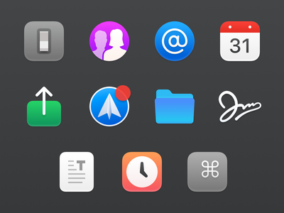 Custom Spark Preference Icons email mac app icons prefs preference icons macos spark